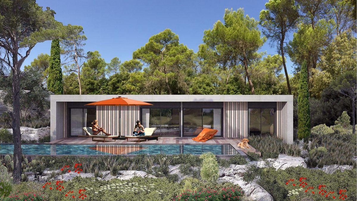 Maison californienne et design dans le Var